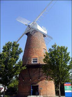 Molino de viento de Rayleigh Essex UK.
