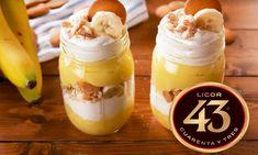 Zin in een zomers dessert, speciaal voor volwassenen? Dan is deze boozy bananenpudding met Licor 43 wat je zoekt! Lekker als toetje bij de barbecue.