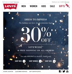 Levi's 2012 Holiday email: E-mail Marketing, Email Marketing Design, Newsletter Layout, Email Newsletter Design, Newsletter Ideas, Email Newsletters, Banner Design Inspiration, Web Inspiration, Sale Banner