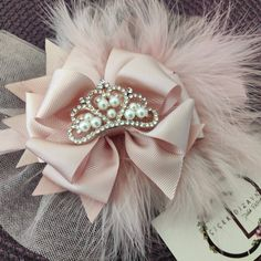 """Powder Color birthday headband for baby and girls"" Baby Girl Wedding Dress, Wedding Dresses For Girls, Toddler Hair Bows, Girls Crown, Floral Headpiece, Crown Hairstyles, Baby Girl Headbands, My Flower, Grosgrain Ribbon"