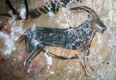 Pintura rupeste de la Cueva de Niaux (Francia). Paleolítico Superior.