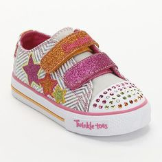 Ellas other bday list item-Skechers Twinkle Toes Shuffles Triple Up Light-Up Shoes - Toddler Girls