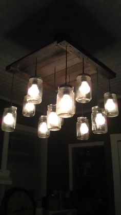 My chandelier I created for my kitchen ... Uploaded with Pinterest Android app. Get it here: http://bit.ly/w38r4m