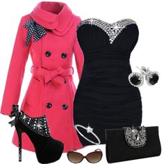 New Years outfit of I was 100 pounds! Holiday Outfits, Winter Outfits, Pretty Outfits, Cute Outfits, Pink Outfits, Pretty Clothes, Cute Fashion, Fashion Outfits, Fashion Ideas