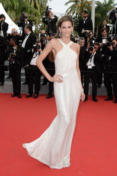 Izabel Goulart wears ELIE SAAB Resort 2014 to the 'The Search' premiere at the 67th Annual Cannes Film Festival.