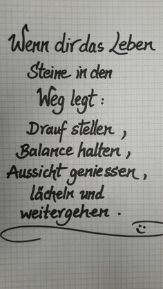 Wenn dir das Leben Steine in den Weg legt: Drauf s… – If life puts you in the way of stones: on it s … – you True Quotes About Life, Deep Quotes About Love, Love Yourself Quotes, Love Quotes For Him, Quotes To Live By, Life Quotes, Life Memes, Mood Quotes, Motivation Positive