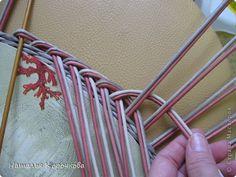 Поделка изделие Декупаж Плетение Постигаем новое подсказки Картон Салфетки Трубочки бумажные фото 9
