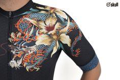 Skull man cycling jersey : Dragon #bombbike #skull #cyclingjersey #customdesign #ชุดจักรยาน #เสื้อจักรยาน #รับผลิตชุดจักรยาน
