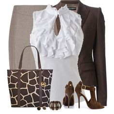 A fashion look from September 2014 featuring Wet Seal blouses, Dolce&Gabbana blazers y Reiss skirts. Browse and shop related looks.