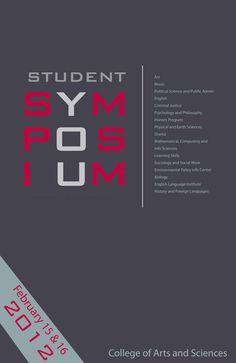 graphic design poster | Symposium Poster