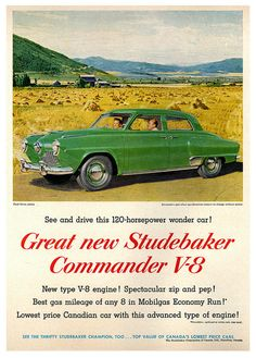 Studebaker ad, 1951