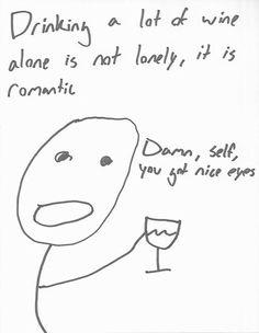 ahhah wine night!