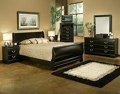 Sandberg Furniture 325Y Regency Sleigh Bedroom Set, Full  