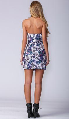 DINA FLORAL DRESS IN PURPLE http://www.popcherry.com.au/new-arrivals/