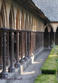 Abbey Cloisters, Le Mont St Michel, France