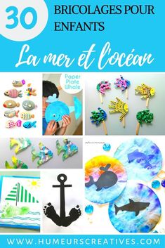 30 crafts for kids on the theme of the ocean Diy For Kids, Crafts For Kids, Peaceful Parenting, Preschool Art, Edd, Business For Kids, Craft Party, Fun Crafts, Activities For Kids
