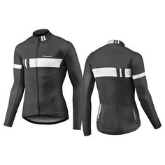 2017 Giant Podium Long Sleeve Cycling Jacket-Black White Jersey Tops 514059245