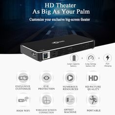 Only US$187.99, eu TOUMEI C800S DLP Projector Smart Android Projector Throw 2000:1 - Tomtop.com