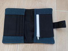 Portefeuille Compère récup jeans cousu par Mathi - Patron Sacôtin