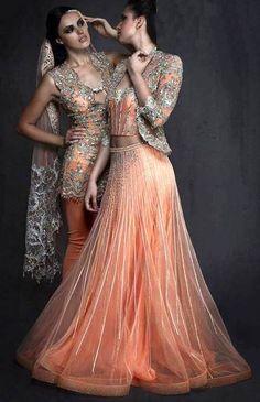 Gorgeous peach dresses