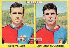 ELIO VANARA - ADRIANO NOCENTINI 1966-67 GENOA Panini Calciatori 1966-1967 - Collection preview - laststicker.com