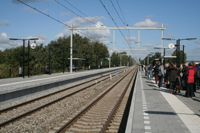Steunbetuiging Ltb Jeans, Railroad Tracks, Netherlands, The Nederlands, The Netherlands, Holland, Train Tracks