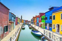 Burano Canal, Venice Italy printed on sailcloth for home décor wall art print. Unique Textile Printing http://www.amazon.com/dp/B00VIVDNEA/ref=cm_sw_r_pi_dp_d-zhvb1EYBT5D