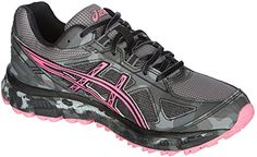 ASICS Womens Gelscram 2 Running Shoe TitaniumHot PinkBlack 75 M US >>> You can get more details by clicking on the image.