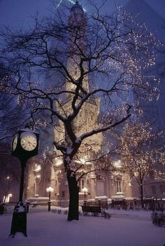 The old Water Tower, along the Magnificent Mile, in Chicago.  Will we have a white Christmas this year?  But with the first snowfall having come already, two days ago, we may have a white Thanksgiving!