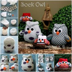 "Owl crafts are a ""hoot."" They are so adorable , easy and simple to make as you just need a sock to start with. Sock owl tutorial--> http://wonderfuldiy.com/wonderul-diy-cute-sock-owl/"