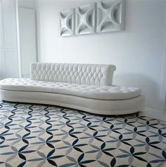 Starflower Blue by Edward Barber & Jay Osgerby | Wool Contemporary hand-knotted designer rugs