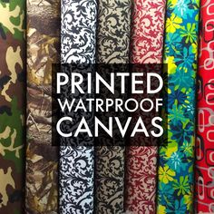 "Printed Canvas Fabric Waterproof Outdoor 60"" wide 600 Denier per yard"