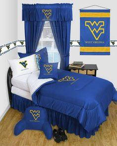 West Virginia Mountaineers Dorm Bedding Comforter Set