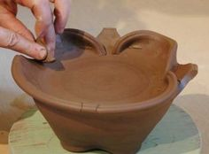 Cutting and folding clay