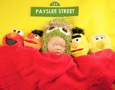 New born Photo Shoot with Sesame Street