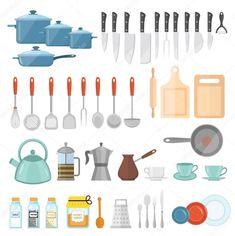 Baixar - Conjunto de panelas de ícones, estilo simples. Conjunto de utensílios de cozinha de alto isolado no fundo branco. Equipamento de utensílios de cozinha e utensílios de cozinha. Ferramentas da cozinha, utensílios, talheres. Ilustração vetorial — Ilustração de Stock Cookware Set, Journal Stickers, Tools, Illustration, Simple Style, Vector Illustrations, Diy Kitchen Appliances, Instruments, Illustrations