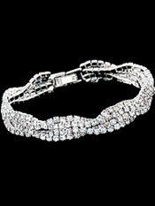 Bridal Bracelets | Four Strand Crystal Intertwined Rhinestone Wedding Bracelet http://www.2-be-unique.com/four-strand-crystal-intertwined-rhinestone-wedding-bracelet.html