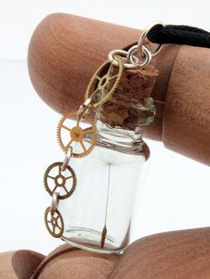 Steampunk dandelion wish seed glass vial pendant with by XercesArt, $19.00 (I want to make this myself!)