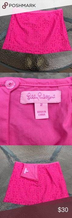 Lilly Pulitzer pink skirt Beautiful skirt in like New condition 💕🌸💕 Lilly Pulitzer Skirts Mini