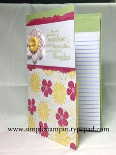 Stampin' Up! - Secret Garden Memo Tablet 3-D Idea