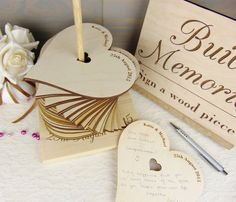 Build Memories Wedding Guest Book, Custom Wood Guest Book, Engraved Guest Book…