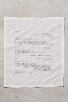 Love Letter Napkins - anthropologie.com