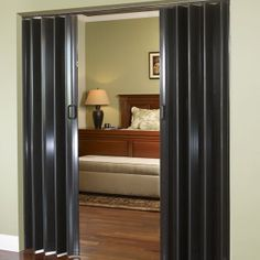 Available in black leather and wood finishes with scratch-resistant, clear UV varnish coating. Acordian Doors, Accordion Folding Doors, Room Deviders, Room Divider Doors, Wardrobe Room, House Deck, Office Interiors, Decoration, House Design