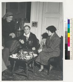 [Therese Bonney with Gertrude Stein and Alice B. Toklas in the home on Rue Christine.]