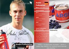 André Pollmächer - Pro Marathon Runner  recommends Argi+ to aid recovery. Visit http://www.foreveraloeaberdeen.myforever.biz/store to order your Argi+ now. Worldwide delivery.   #fitness #health #healthandfitness #sport #marathonrunners #running #energy #stamina #foreverliving #aloevera