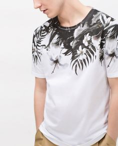 FLORAL YOKE T - SHIRT - View all - T - SHIRTS - MAN | ZARA United States