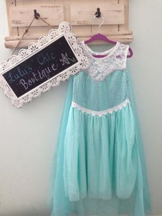Elsa Dress Frozen princess by LCBoutiquee on Etsy, $25.00
