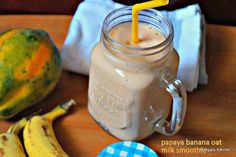 Papaya Banana Oat Milk Smoothie is a healthy and filling and tasty breakfast smoothie which is highly nutritious and filling.Whenever you happen to skip your usual breakfast,or don't have time to make,try this delicious smoothie and iam sure you will like it.I already have one papaya smoothie in my blog.This one has oats included in it and that makes it more like a hearty and fulfilling drink to kick start your day.I was making a few smoothie recipes and found this recipe while browsing…
