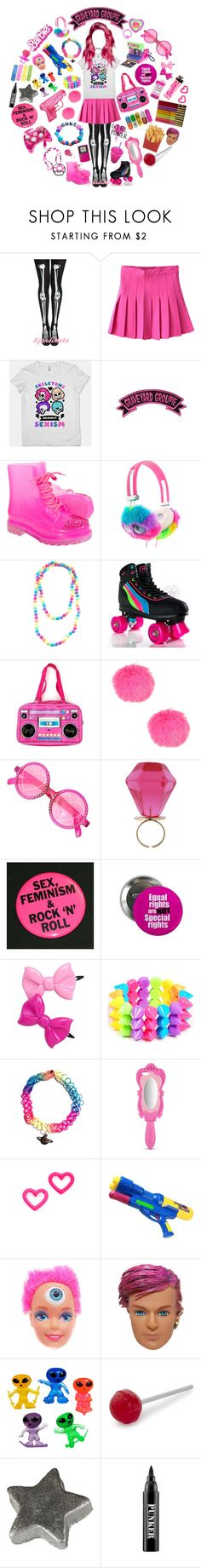 """""""Barbie is my dream job"""" by sw-13 ❤ liked on Polyvore featuring Kreepsville 666, Chicwish, GET LOST, Polaroid, Moschino, Marc by Marc Jacobs, Fred, KING and Ardency Inn"""