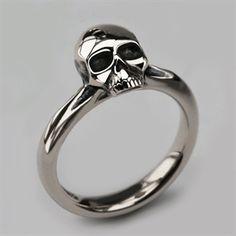 Small Silver Skull Ring - Women's & Men's Skull Jewellery - Quality Designer Jewellery - Stephen Einhorn London